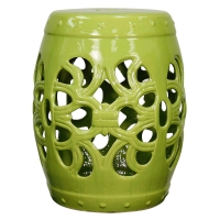 Ribbon Garden Stool, Green/469720-GR
