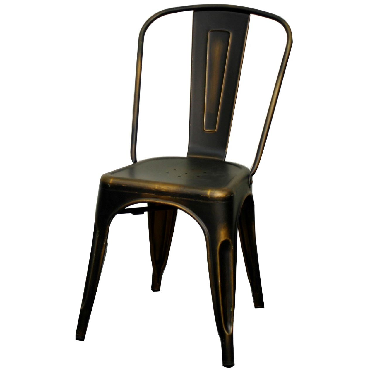 Genial Metropolis Metal Side Chair, Distressed Copper/938233 DC