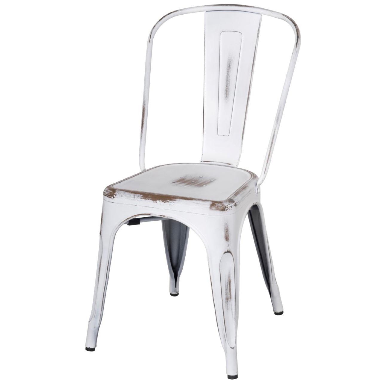 distressed metal furniture. Metropolis Metal Side Chair, Distressed White/938233-DW Distressed Metal Furniture