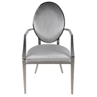 Isabeli Fabric Arm Chair Stainless Steel Frame, Silver/4700002