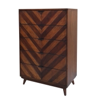 Piero Chevron Chest with 5 Drawers, Java/7800021-JV