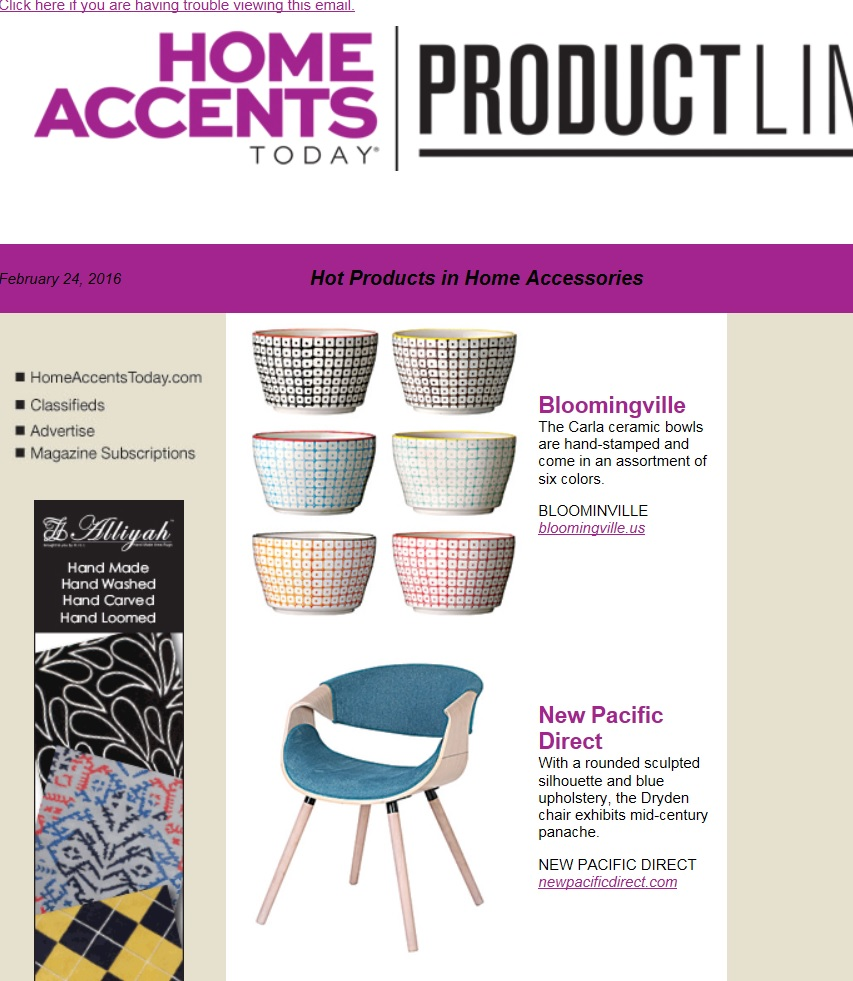 IN THE MEDIA - NPD Home Furniture | Wholesale Lifestyle