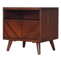 Piero Chevron Night Stand/SideTable, Java/7800008-JV