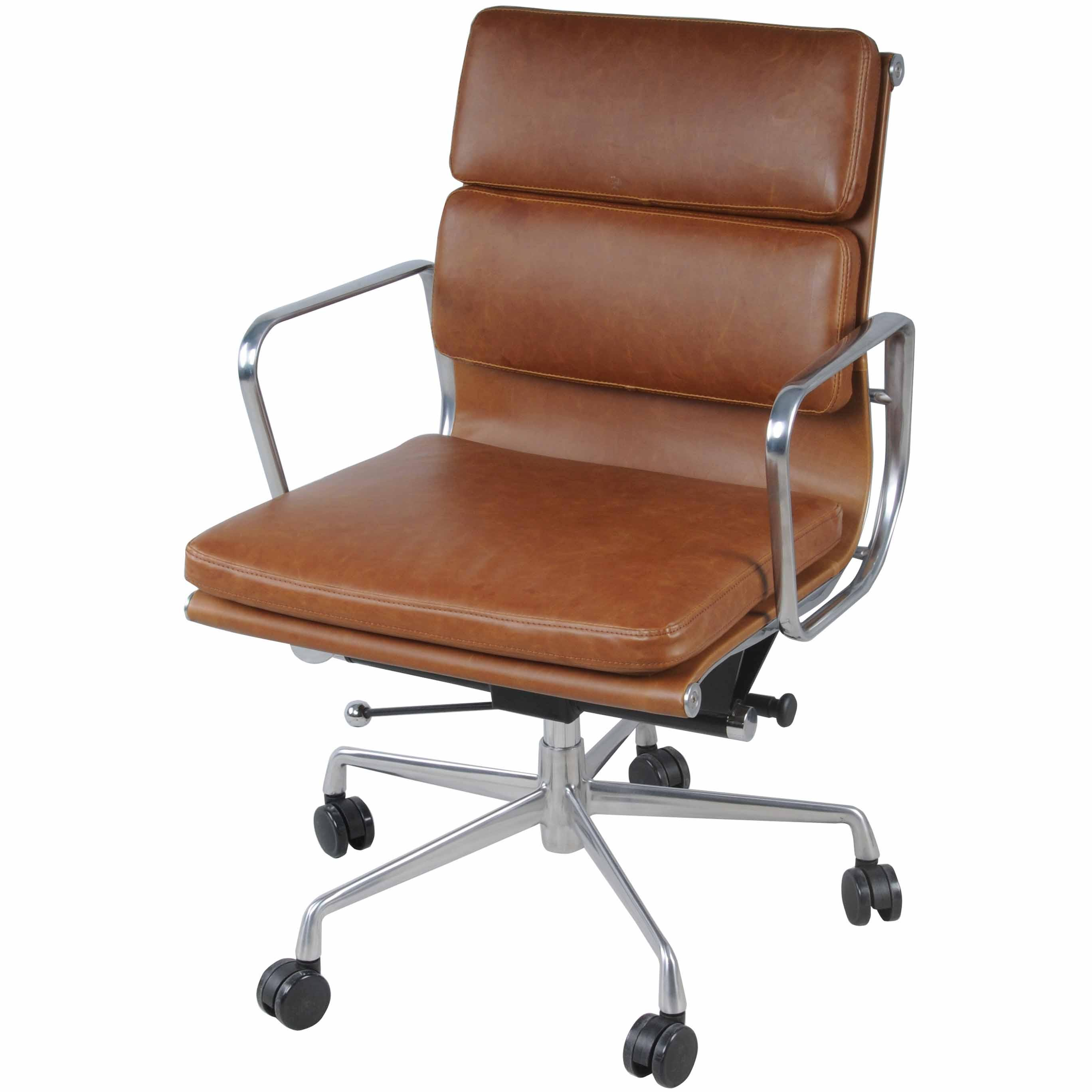 Chandel PU Low Back Office Chair, Vintage Tawny/6900002 VT