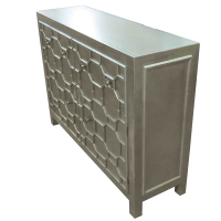 Silvestro Distressed Sideboard 2 Drawers + 2 Doors, Antique Champagne/2100005-AC