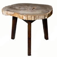 Zandra Petrified Side Table Washed Black Legs, Natural/8600003