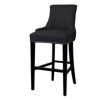 Charlotte Fabric Bar Stool, Charcoal/108530-HS02