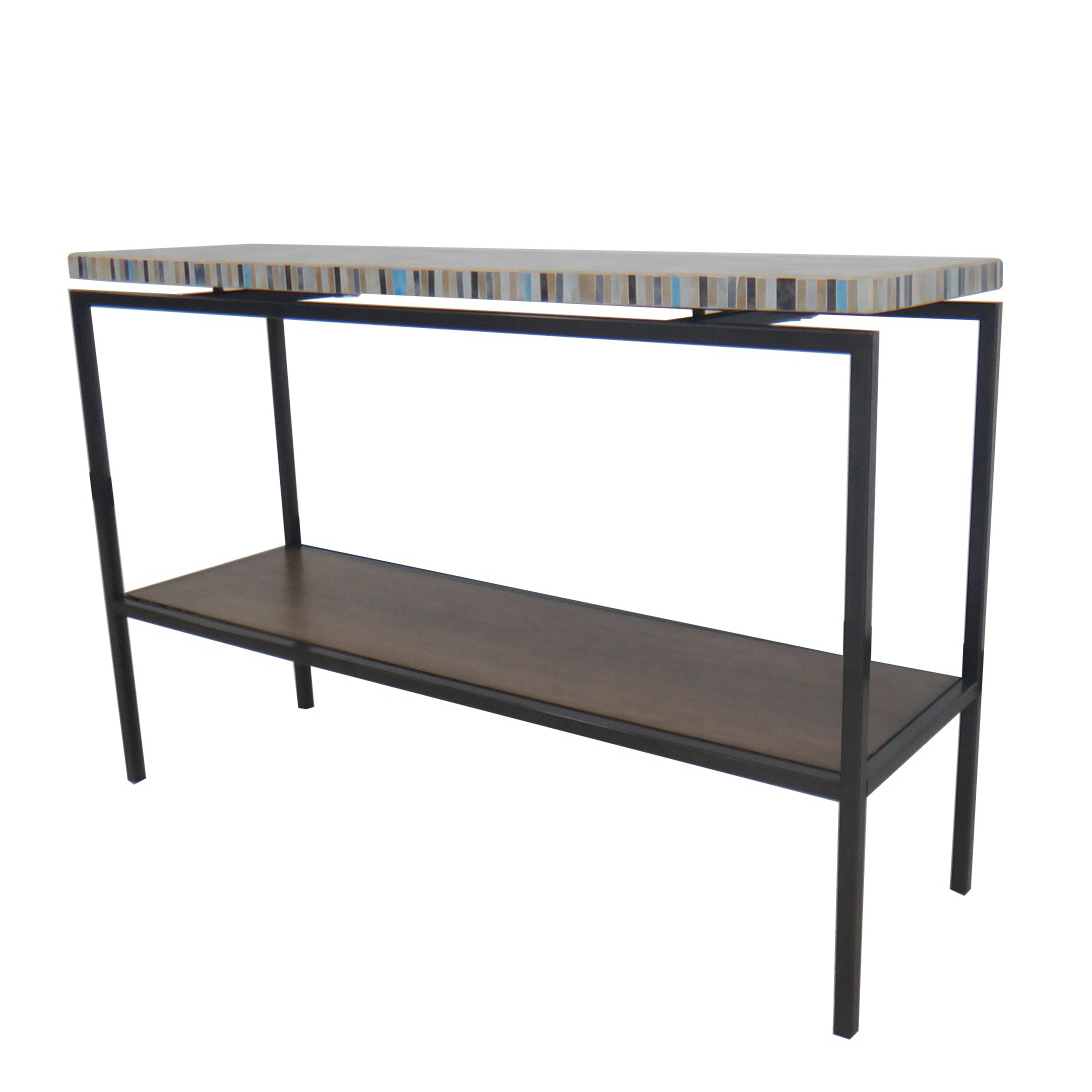 Avon KD Console Table Graphite Metal Frame, Mosaic/2300003
