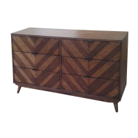 Piero Chevron Dresser with 6 Drawers, Java/7800022-JV