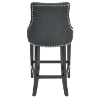 Charlotte Fabric Counter Stool, Charcoal/108526-HS02