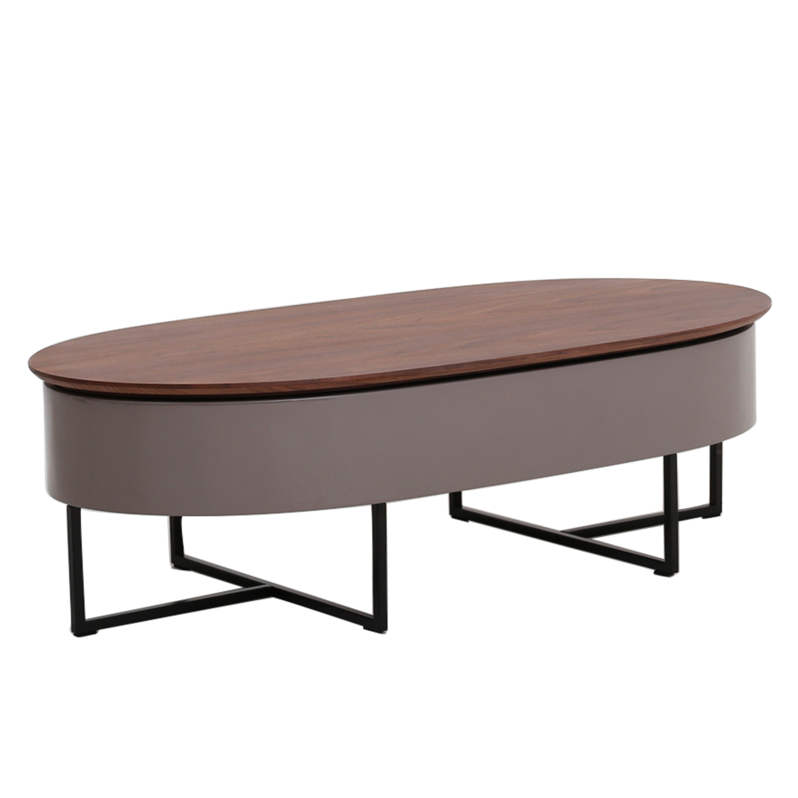Oval Storage Coffee Table Xl Large Oval Storage Ottoman Coffee Table Faux Leather Storage