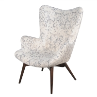 Sadie KD Arm Chair Dark Walnut Legs, Smoky Petal/413037-211