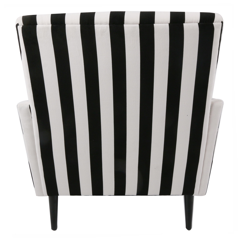 dayton kd fabric accent chair black legs blackwhite