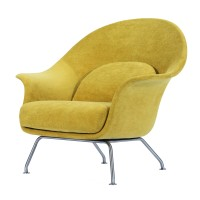 Chiara KD Fabric Accent Chair  Brushed Stainless Steel Legs, Citrus Garden/1020001-188