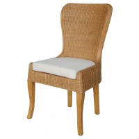 Sophie Rattan Dining Chair, Honey Glaze Brown/2400014