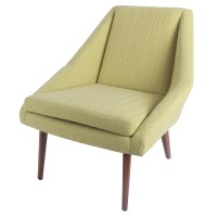 Enzo KD Fabric Accent Chair, Lime Leafage Green/1900094-241