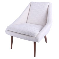 Enzo KD Fabric Accent Chair, Icy Leafage Beige/1900094-242