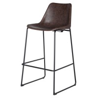 Delta PU ABS Bar Stool, Vintage Coffee Brown/9300023-238