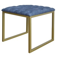 Avril KD End Table, Denim Slate Blue/9900011-157