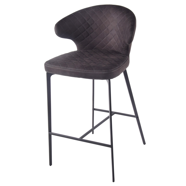 Bradley KD Fabric Bar Stool, Moonstone Hide Black/4400049 221