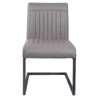 Ronan KD PU Dining Chair, Antique Graphite Gray/1060002-216