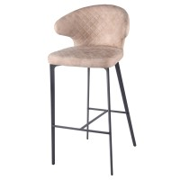 Bradley KD Fabric Bar Stool, Saltbox Hide Taupe/4400049-220