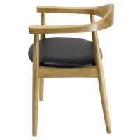 Tita PU Chair, Black/ Natural***CLOSEOUT***/1090003-N