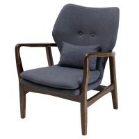 Jean KD Fabric Arm Chair, Pebble Gray/1090004
