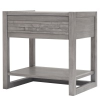 Callisto Night Stand/Side Table, Weathered Gray/7800015-WG