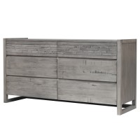 Callisto Dresser with 6 Drawers, Weathered Gray/7800016-WG