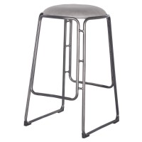 Oasis PU Metal Counter Stool, Vintage Mist Gray/9300025-239