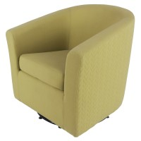 Hayden Fabric Swivel Chair, Citron/Lime Leafage Green/193012-2416