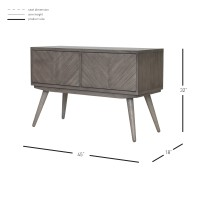 Piero Chevron High Media Stand, Weathered Gray/7800006-WG