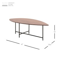 Eva KD Coffee Table, Walnut/1030008