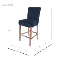 Milton Fabric Bar Stool, Midnight Thames Blue***CLOSEOUT***/268530-243