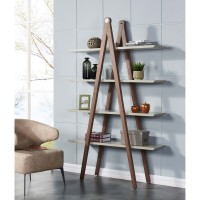 Ynez KD Bookcase, Gray/Walnut/6700030