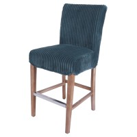 Milton Fabric Counter Stool, Midnight Thames Blue/268527-243