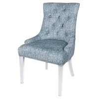 Audrey KD Fabric Dining Chair Acrylic Legs, Quiver Indigo Blue/3500058