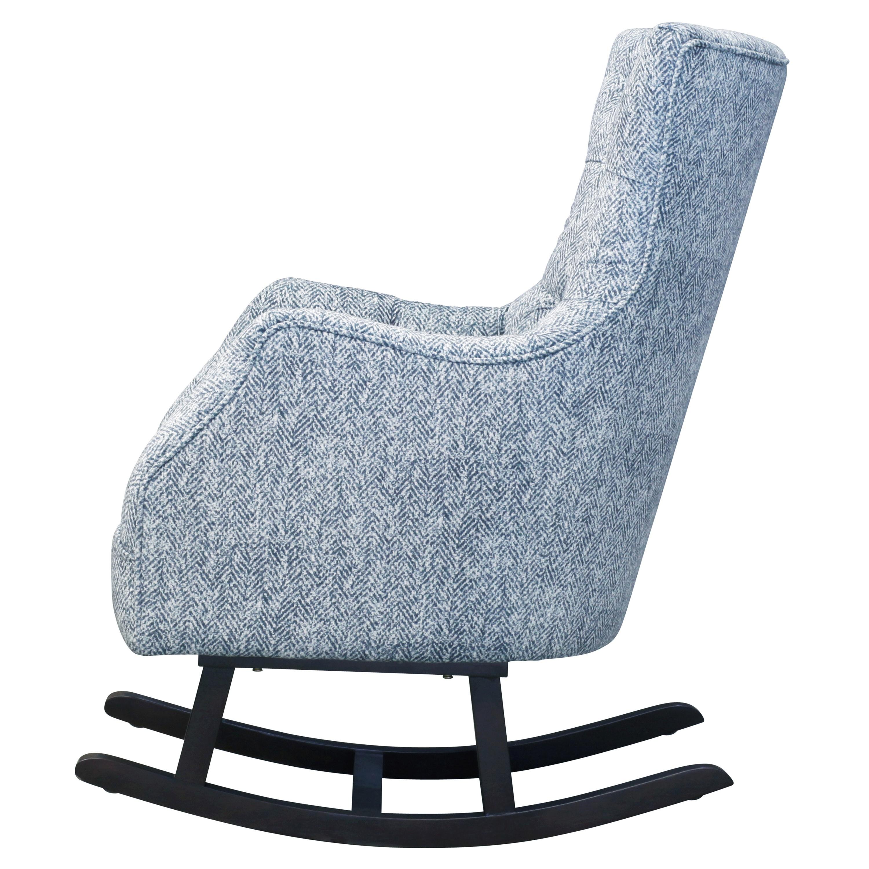 Abigail KD Fabric Tufted Rocking Chair, Quiver Indigo Blue/3900022