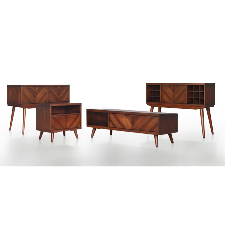 Piero Chevron Buffet 4 Drawers + 4 Doors, Java/7800011 JV