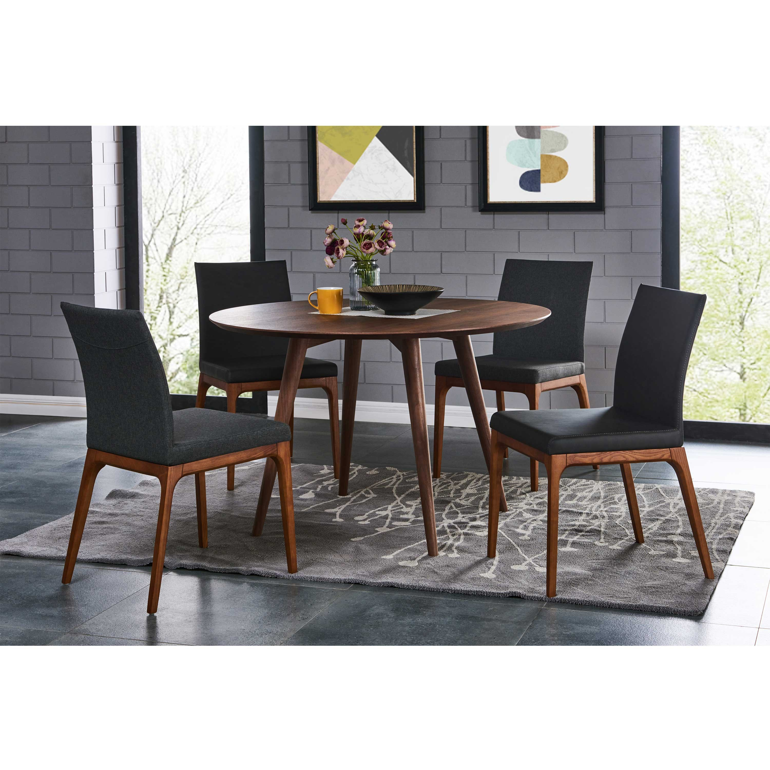 Bradshaw Round Dining Table, Walnut/441847