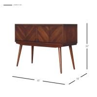 Piero Chevron High Media Stand, Java/7800006-JV