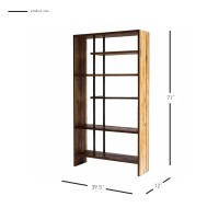 Cabbot KD Book Case, Natural/9600014