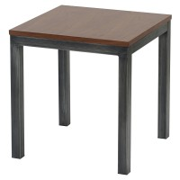 Octa KD End Table Brushed Gray Legs, Walnut/3400024