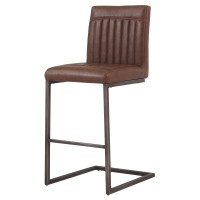 Ronan KD PU Counter Stool, Antique Cigar Brown/1060008-215