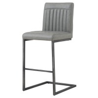 Ronan KD PU Counter Stool, Antique Graphite Gray/1060008-216