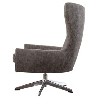 Arya KD PU Swivel Chair, Kalahari Gray/1900103-266