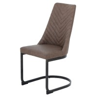 Kyla KD PU Chair Brushed Brass Legs, Element Brown/3000007-281