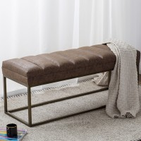 Darius PU Bench, Nubuck Chocolate/3900030-NCE