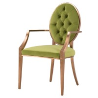 Tiara Fabric Tufted Arm Chair, Royal Olive/4700008-284
